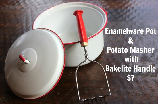red and white Enamelware