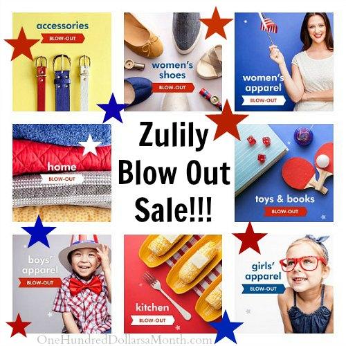 zulily blowout sale