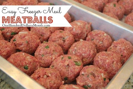 Easy Freezer Meal Meatballs
