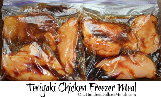 Freezer Meals - Teriyaki Chicken