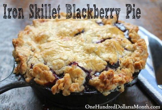 Iron Skillet Blackberry Pie