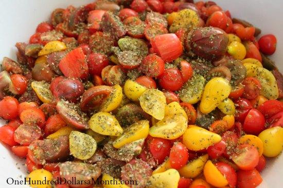 tomatoes seasoned