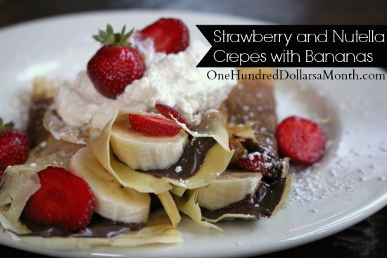 Strawberry and Nutella Crepes with Bananas