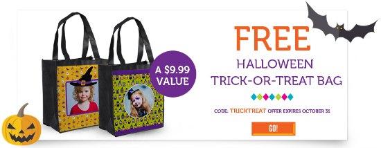 free hallowen trick or treat bag