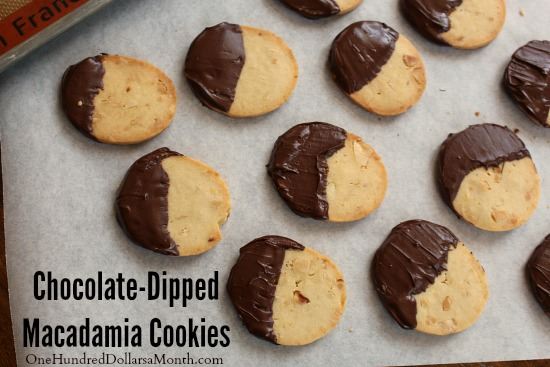 Chocolate-Dipped Macadamia Cookies
