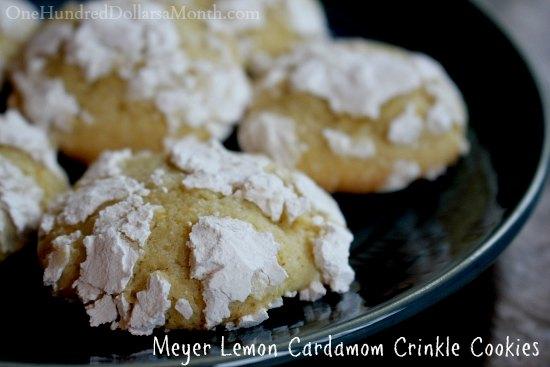 Meyer Lemon Cardamom  Crinkle Cookies