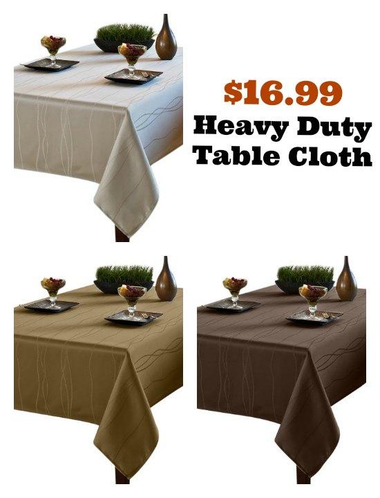 heavy duty tablecloth
