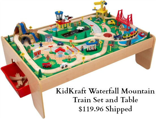 kid kraft train table set