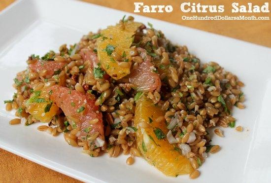 Vegan Friendly Recipes - Farro Citrus Salad