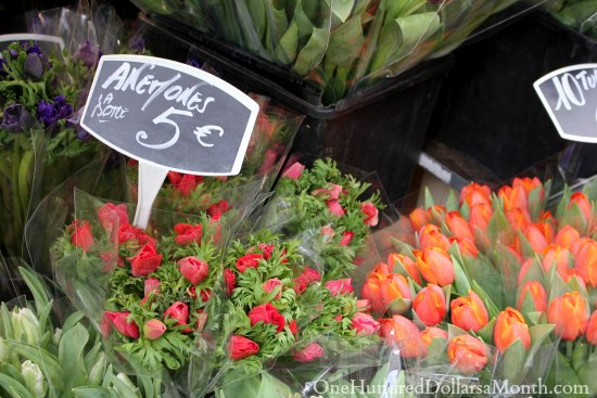 flowers paris