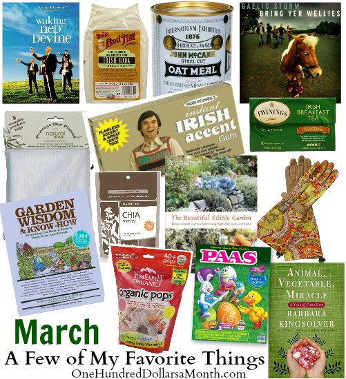 A Few of My Favorite Things – March Giveaway