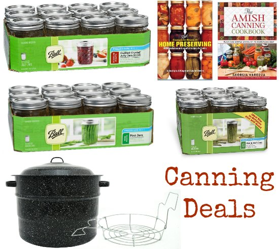 ball canning jars and books
