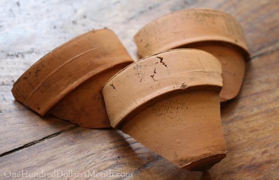 broken terra cotta pots