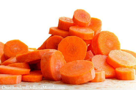 chopped carrots