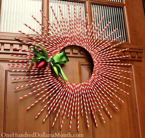 DIY Paper Straw Wreath