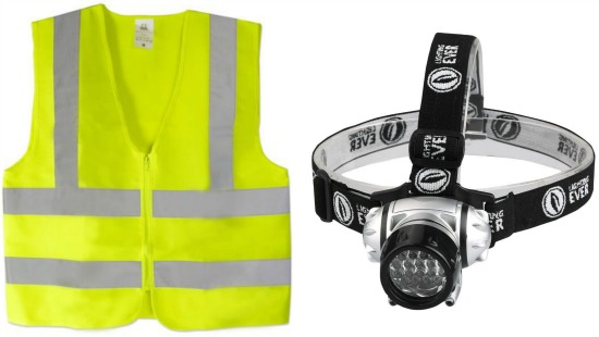 bright yellow safety vest