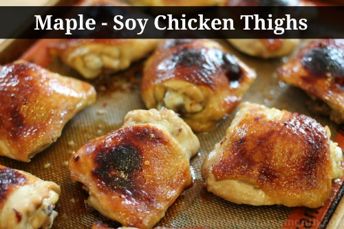 easy-chicken-recipes-maple-soy-chicken-thighs