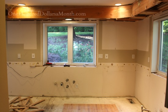 before and after kitchen demo photos