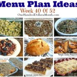 Weekly Meal Plan – Menu Plan Ideas Week 40 of 52