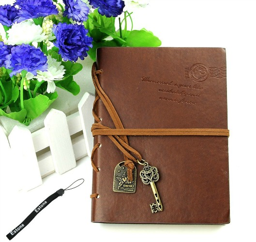 brown leather journal for girls