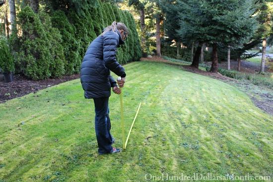 measuring for upper garden plot