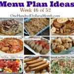 Weekly Meal Plan – Menu Plan Ideas Week 46 of 52