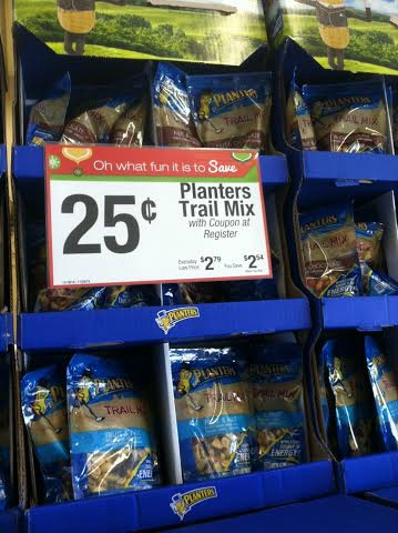 planters trail mix stand