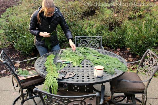 How to Make a Cedar Christmas Garland For Free