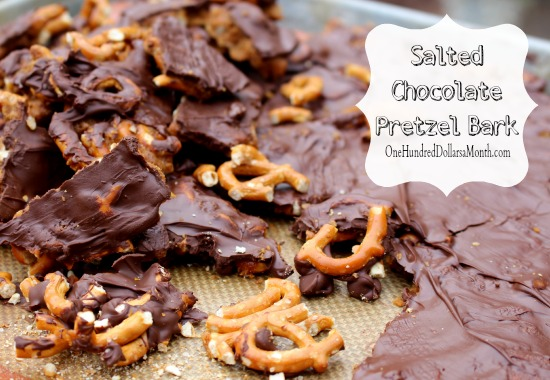 Salted Chocolate Pretzel Bark recipe