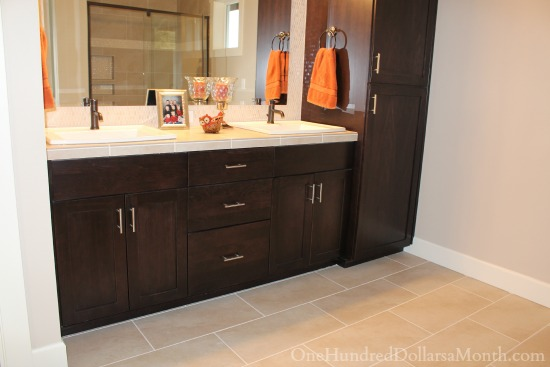 bathroom vanity maple espresso