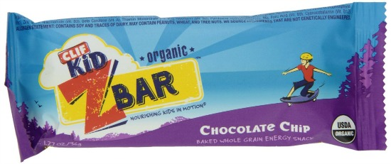 clif kid chocolate chip bars