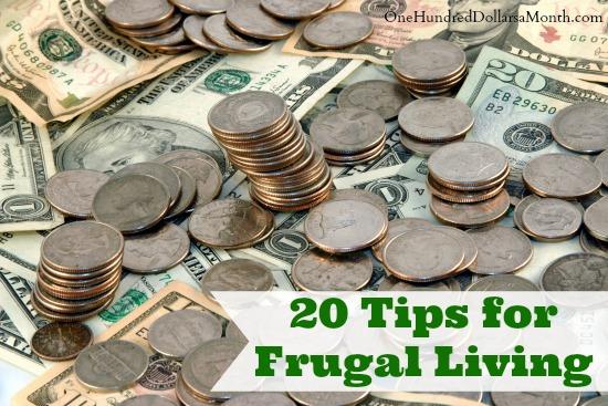 20 Tips for Frugal Living