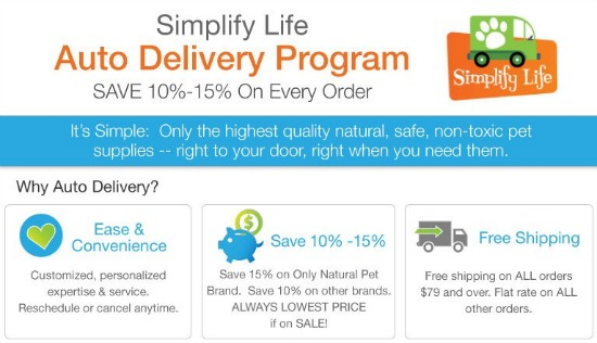 all natural pet auto delivery program
