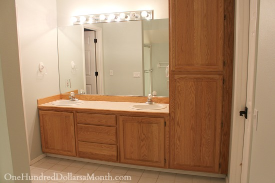 double bathroom vanity solid oak