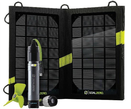 Goal Zero Solar Chargers and Generator