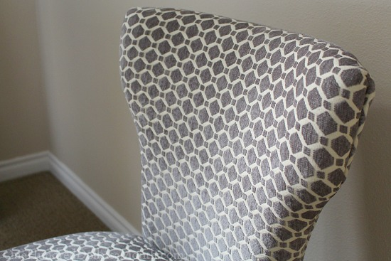 grey and white chair
