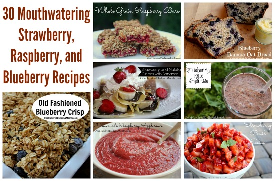 30 Mouthwatering Strawberry, Raspberry, and Blueberry Recipes