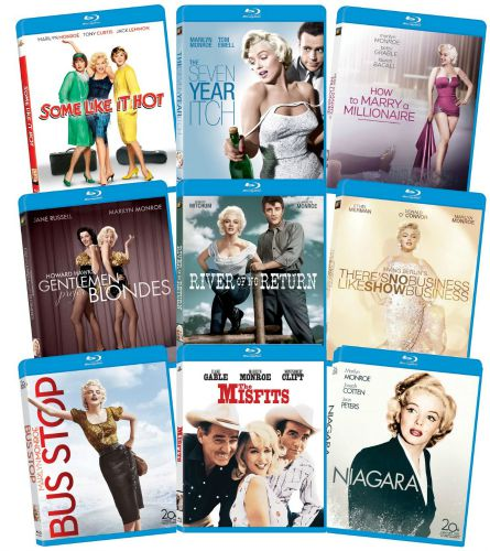 Marilyn Monroe Classic Nine Film Collection on Blu-ray