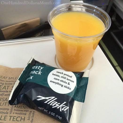 alaska airlines complimentary beverage