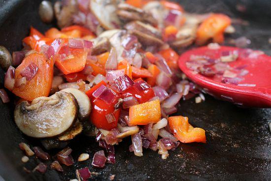 mushroom and sweet peppers