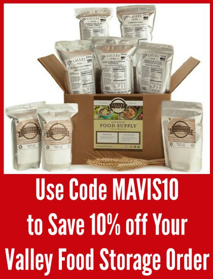 valley food storage discount code