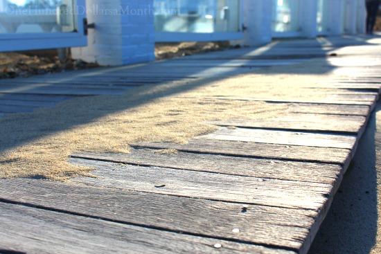 beach boardwalk wool