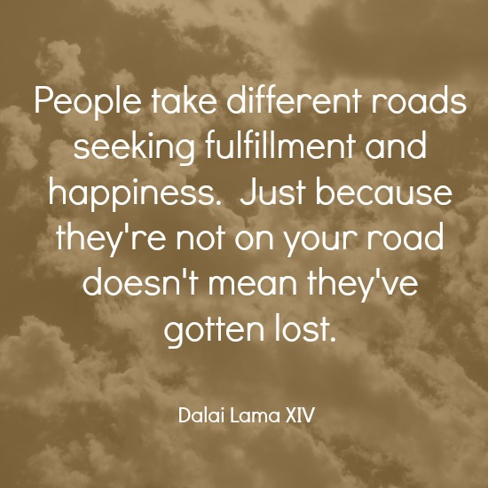 quotes - people take different roads