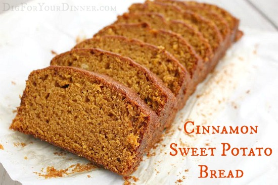 Cinnamon Sweet Potato Bread