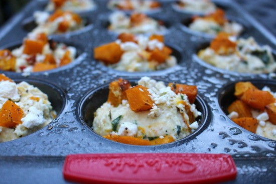 Savory Pumpkin and Feta Muffins