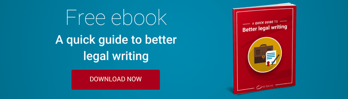 Free ebook: guide to better legal writing