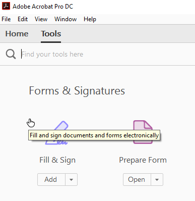 Fill & sign documents in Adobe Acrobat