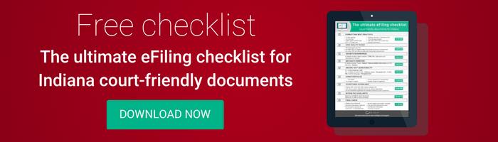 Indiana checklist