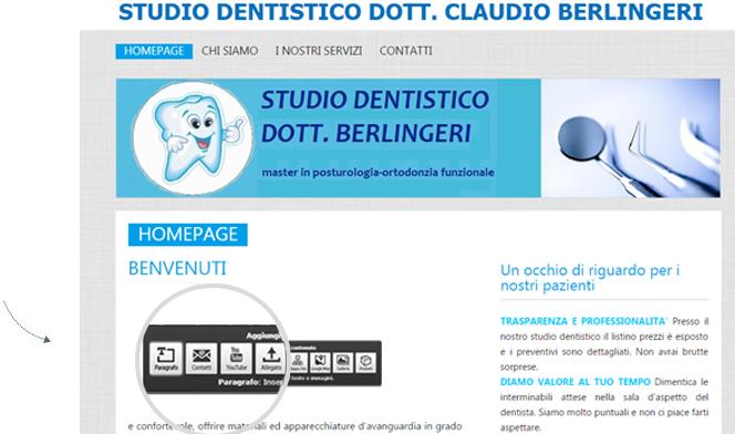 Creare sito dentista