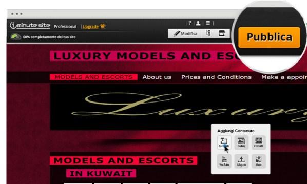 crea sito web per escort